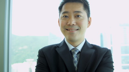 Portrait Male Asian Chinese Business Advisor