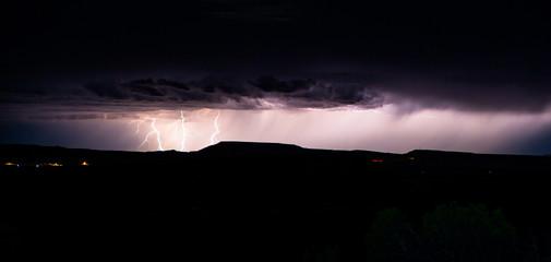 USA, Colorado, Mesa County, Purple storm