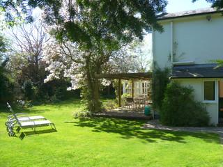 Country house garden in spring