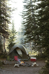 USA, Utah, Uinta National Forest, Empty camping place