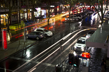 Australia, Victoria, Melbourne, City of Melbourne, Travelling city cars