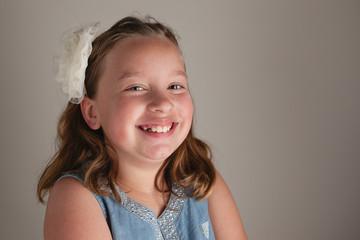 Smiling girl (8-9)