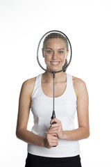 Female badminton player
