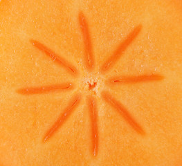 Persimmon slice - texture
