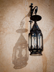Morocco, Meknes, Close-up view of lamp