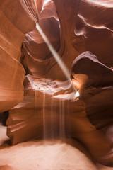 USA, Arizona, Page, Sunbeam in Antelope Slot Canyon