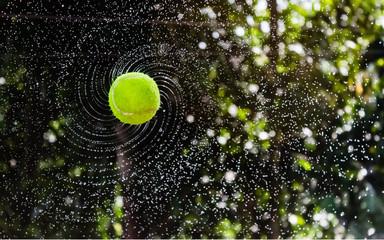 Bangladesh, Tennis ball flying through air
