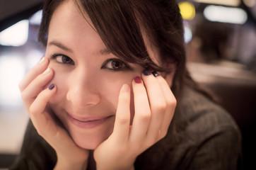 South Korea, Seoul, Portrait of young woman smiling
