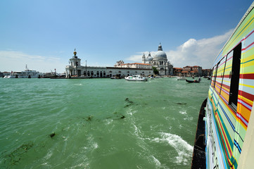 Italy, Venice, View from passenger boat