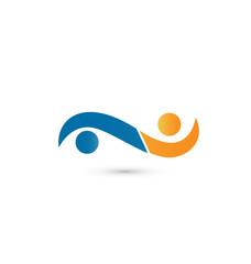 Handshake people business logo vector