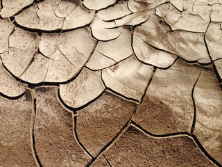 USA, Nevada, Cracked earth, Dried out land in drought
