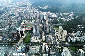 The view of Taipei from 101, Taiwan