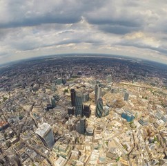 United Kingdom, England, London, Aerial view of city with skyscrapers