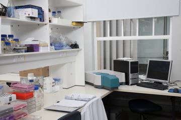 Desk in Laboratory