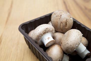 Punnet Of Mushrooms