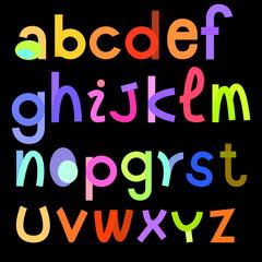 colorful alphabets illustration for design