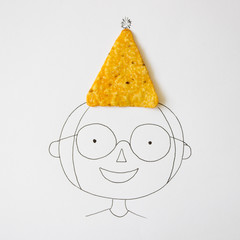 Conceptual boy wearing hat