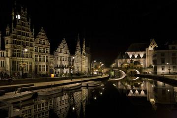 Belgium, Ghent Belgium at night
