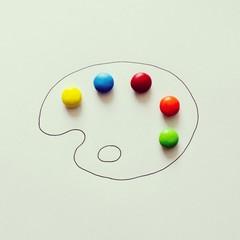 Conceptual paint pallet
