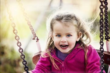 Girl on swing