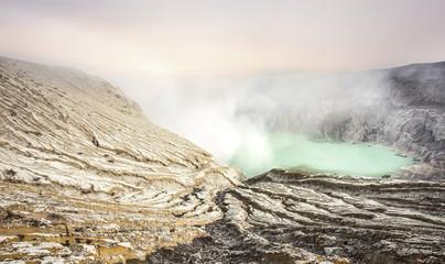 Indonesia, Java, Crater of volcano Ijen