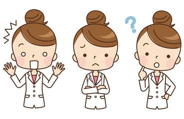 女性 医師 表情 セット
