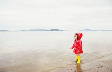 Girl on beach (2-3 years)