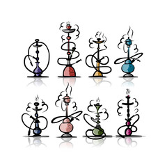 Hookah set, sketch for your design