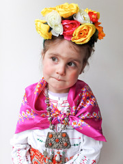 Girl (4-5) in Frida Kahlo costume