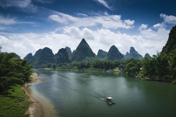 China, Yangshuo, Landscape with Li river