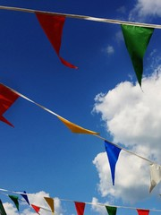 Bunting on wind