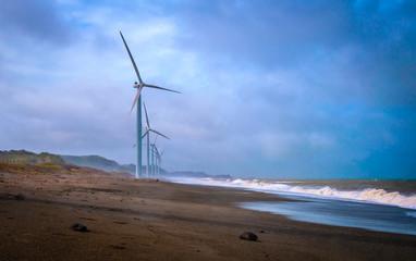 Philippines, Ilocos Norte, Laoag, Picture of wind turbines