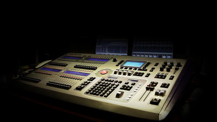 Still shot of a mixing console