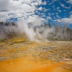 USA, Wyoming, Yellowstone National Park, Geyser