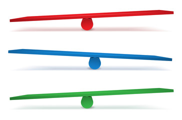 Set of three swings in different colors