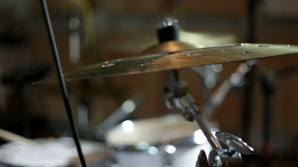 close up shot of musican playing drums