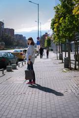 Bulgaria, Sofia, Woman in city