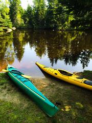 USA, Maine, Kayaks