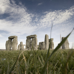 United Kingdom, Wiltshire, Low angle view of Stonehenge
