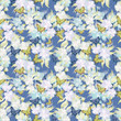 Seamless floral retro pattern background flowers ornament wallpa