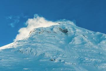 Alpine Alps mountain landscape along the Bernina Express
