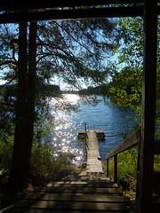 Finland, Savonia, Mikkeli, One of thousand lakes in summer