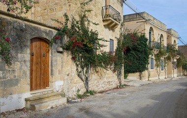 Malta, View of houses and street