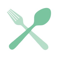 spoon and fork, silhouette