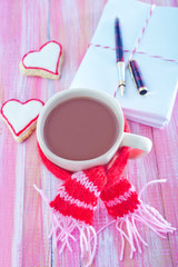 cookies and cocoa drink