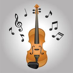 Violin melodies vector illustration