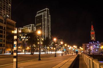 The Embarcadero by night, San Francisco