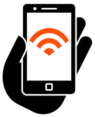 Smartphone with WiFi icon