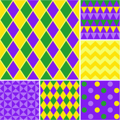 Mardi gras - seamless vector patterns collection