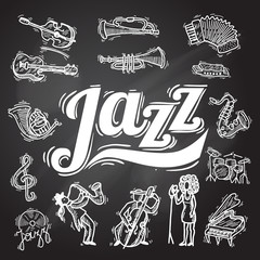 Jazz Chalkboard Set